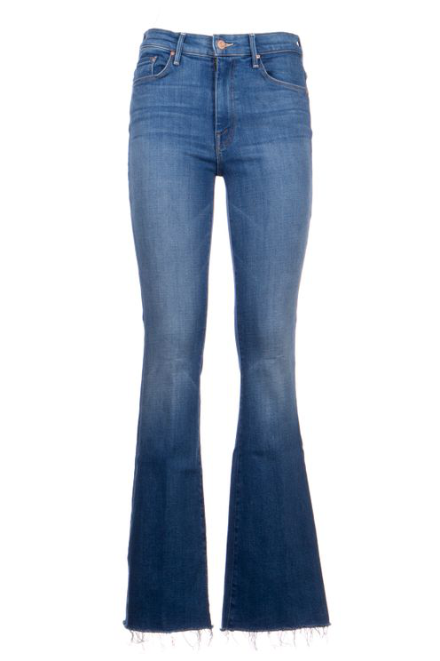 Mother The Weekender Fray Jeans In Blue