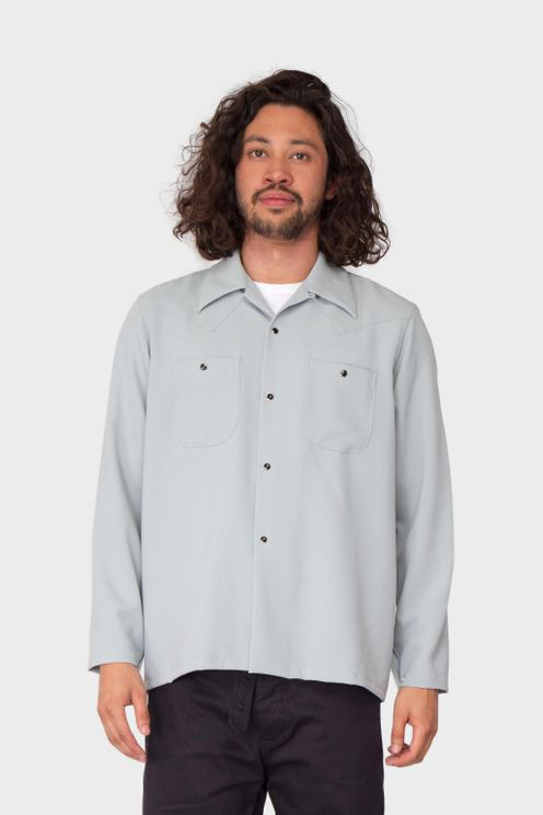 Needles One-up Cowboy Shirt In Grey