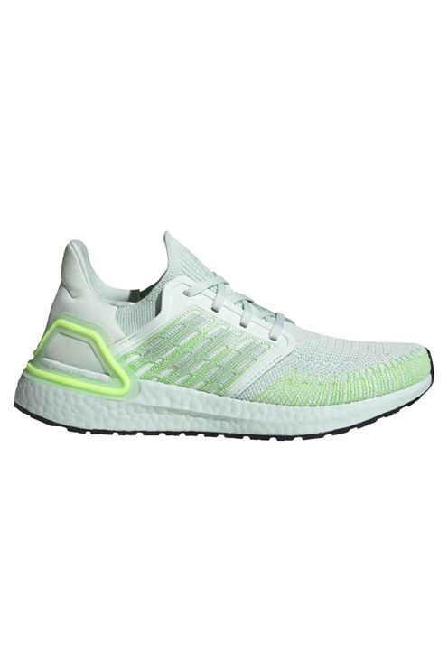 Adidas Originals Ultraboost 20 Shoes - Dash Green/green Tint/signal Green Women's In Grey