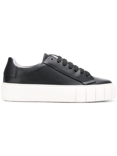 Primury Dyo Low-top Leather Trainers In Black