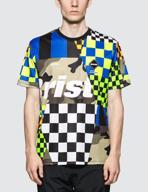 F.c. Real Bristol Multi-pattern S/s T-shirt In Multicolor