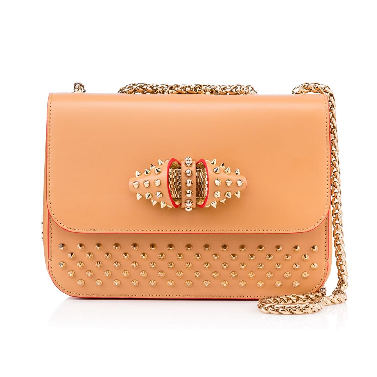 7516815a14d Sweet Charity Studded Calfskin Shoulder Bag, Biscuit