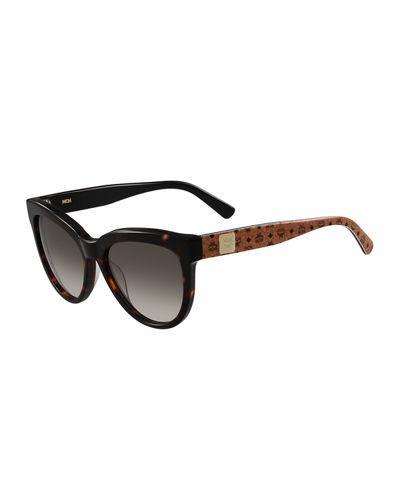 6a83cd62727 Mcm Cat-Eye Two-Tone Visetos Sunglasses In Brown
