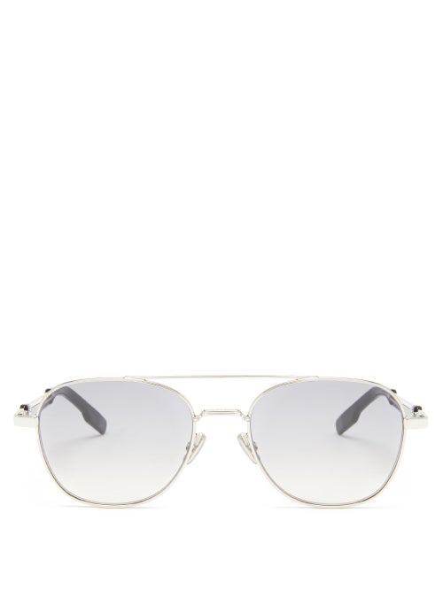Dior Street2 Metal Frame Aviator Sunglasses In Silver