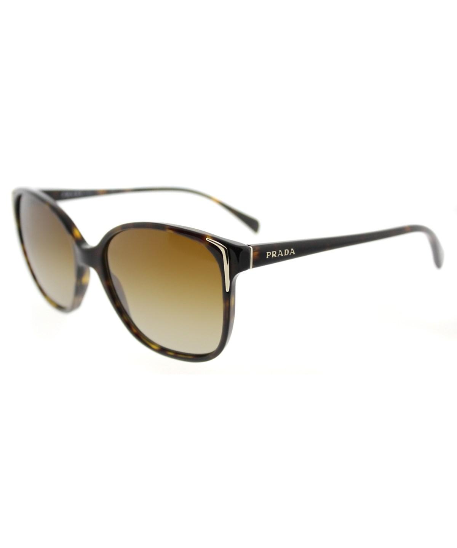Prada Square Plastic Sunglasses' In Havana Brown