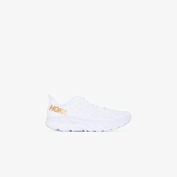 Hoka One One White Clifton 7 Sneakers