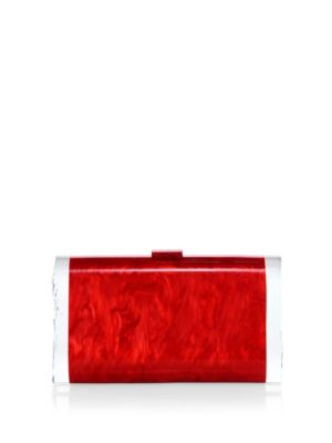Edie Parker Lara Acrylic Clutch In Red