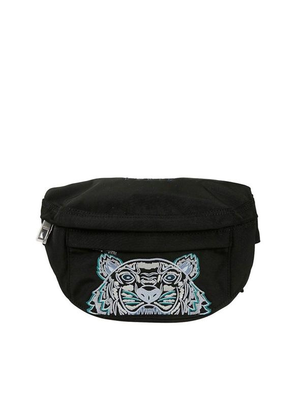 Kenzo Kampus Tiger Belt Bag In Black