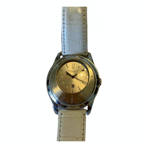 Pre-owned Alfred Dunhill Silver Steel Watch