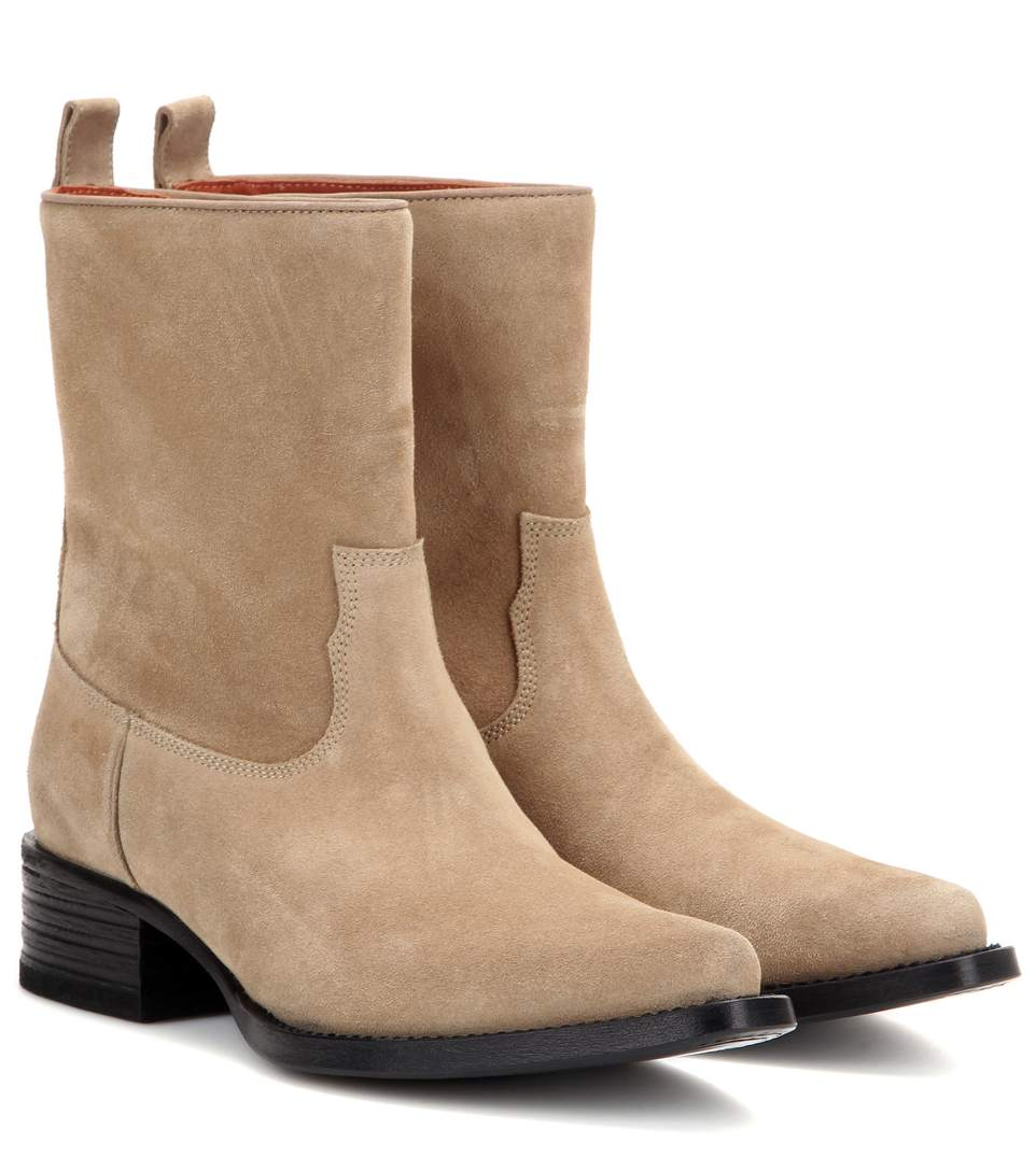 Acne Studios Mytheresa.com Exclusive Galane Suede Boots In Leige