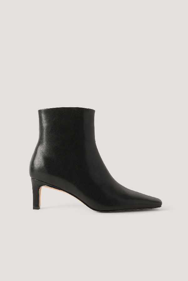 Na-kd Squared Long Toe Ankle Boots Black