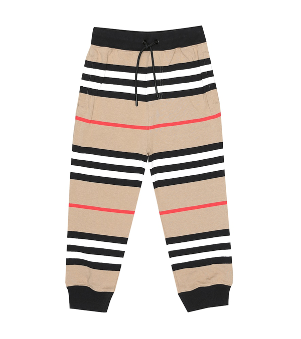 Burberry Kids' Icon Stripe Tracksuit Bottoms In Neutrals