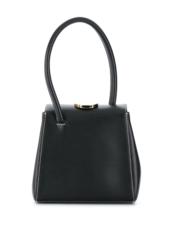 Little Liffner Mademoiselle Round Top Handle Satchel Bag In Black