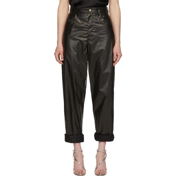Isabel Marant Badeloisa High-waisted Leather Trousers In 01bk Black