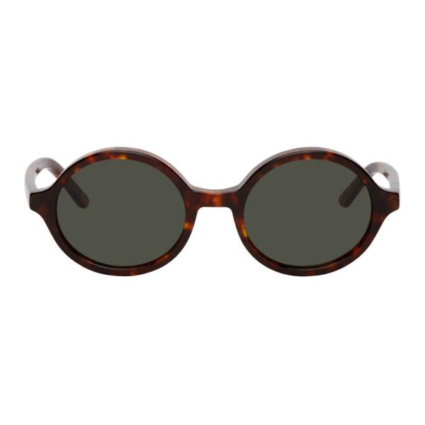 Han Kjobenhavn Brown Smith Amber Acetate Tortoise sunglasses Carl Zeiss Handmade