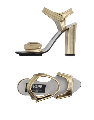 Golden Goose Sandals In Gold