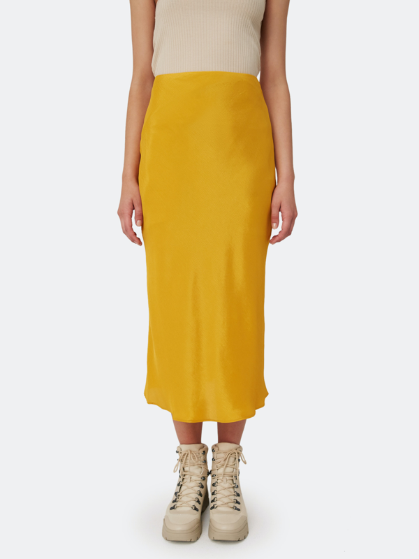 The Fifth Label Long Gone Midi Skirt - L - Also In: Xl, S, Xxs, M, Xs In Yellow