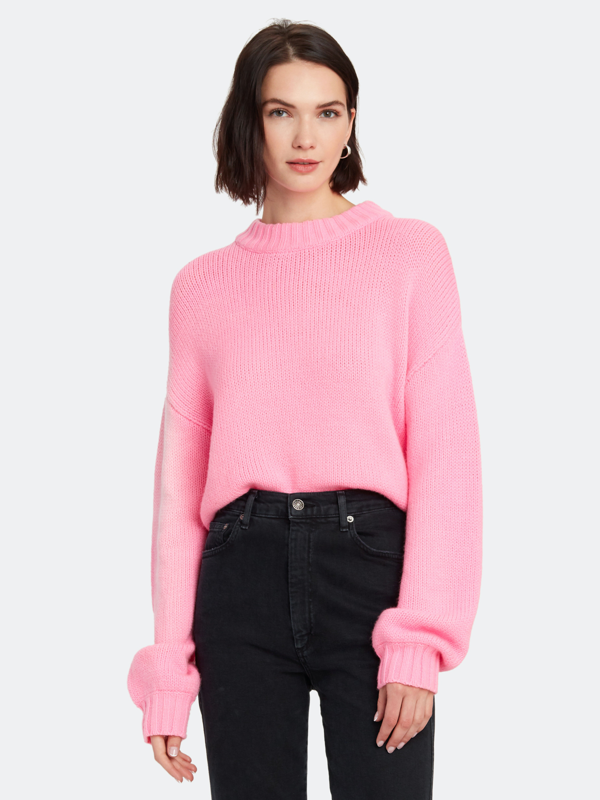 The Fifth Label Skyway Rib Knit Pullover - L - Also In: Xxs, M, Xl In Pink