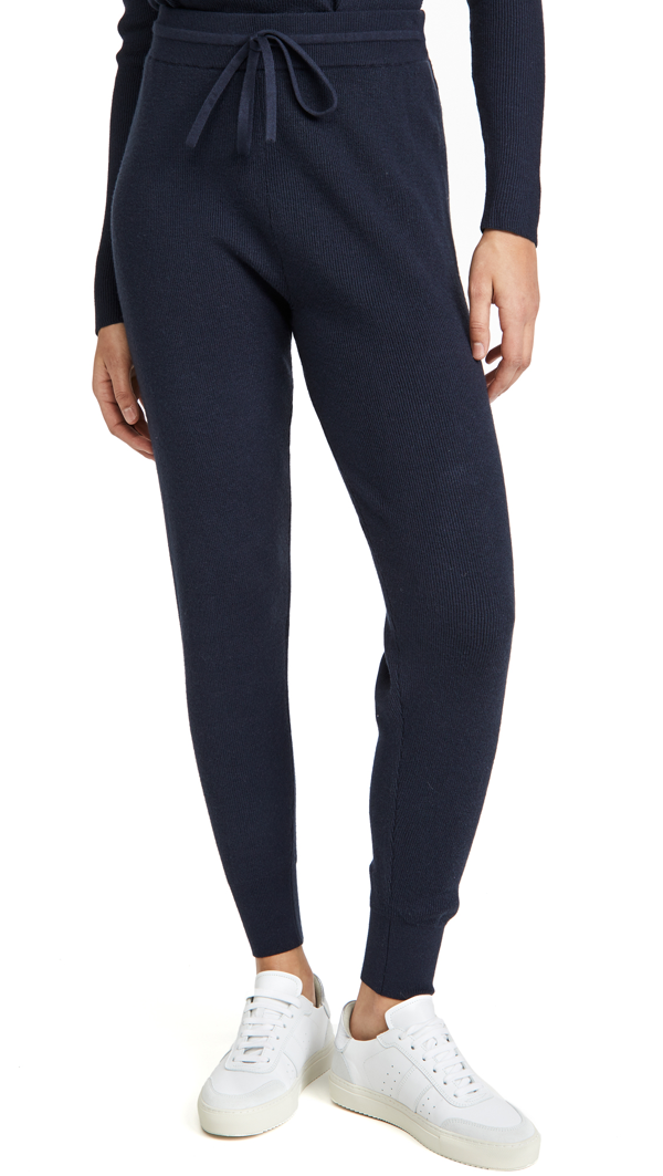 Ramy Brook Allyn Tapered Silk Pant - L - Also In: M, S, Xs In Navy