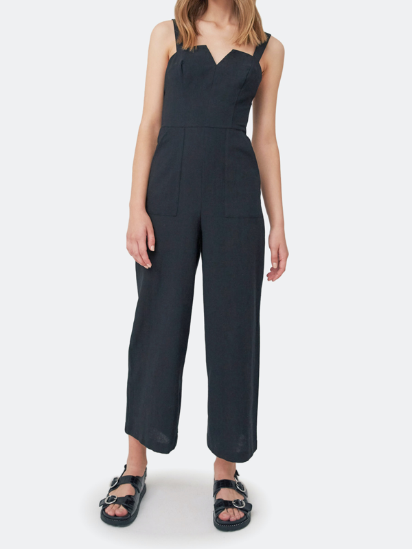 The Fifth Label Embody Wide Leg Jumpsuit In Black