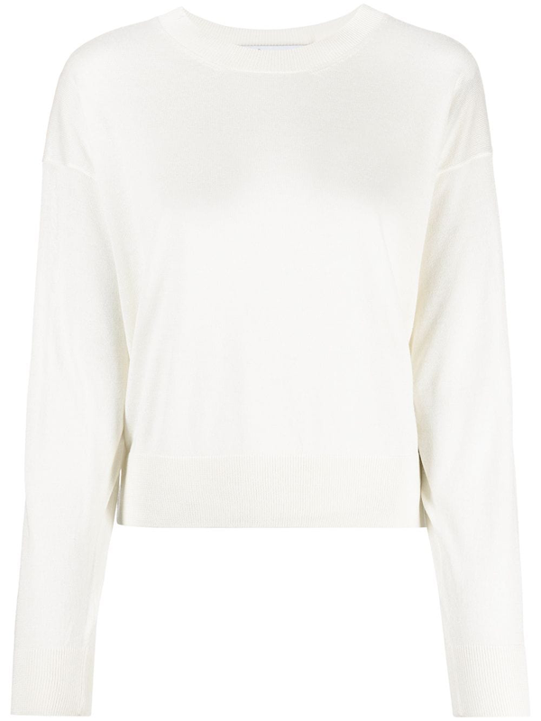 Iro Duffy Relaxed Crew Neck Sweater In White