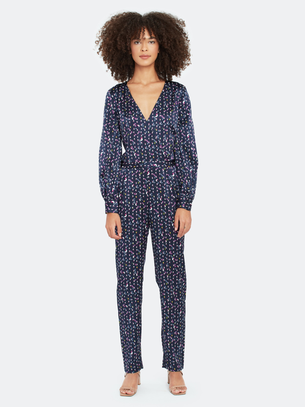 Tanya Taylor Ainsley Print Stretch-silk Jumpsuit In Ditsy Half Moon
