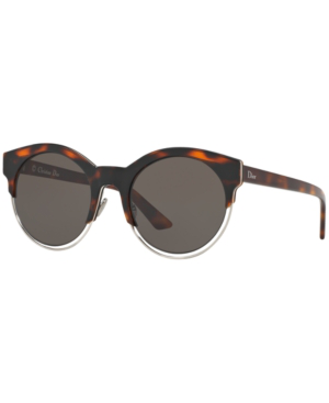 a8b13b73ef4a Dior Sideral 1 Metallic-Trim Cat-Eye Sunglasses, Havana/Rosegold In Brown