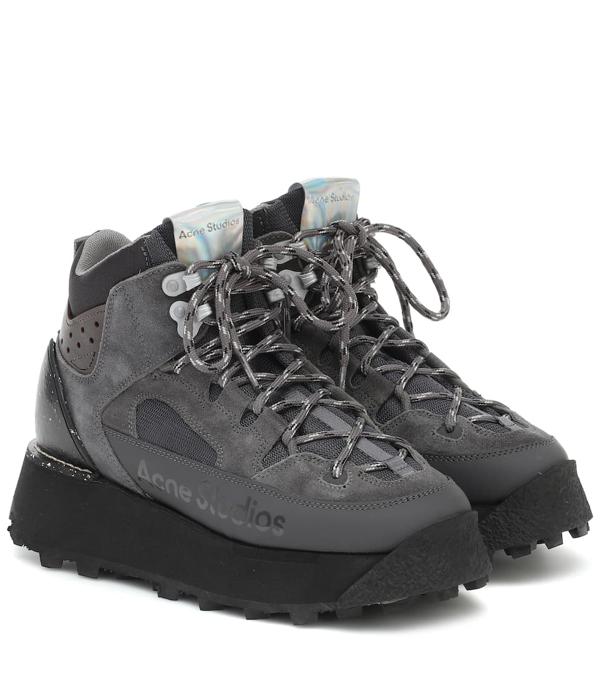 Acne Studios Trekking Platform Sneakers In Grey