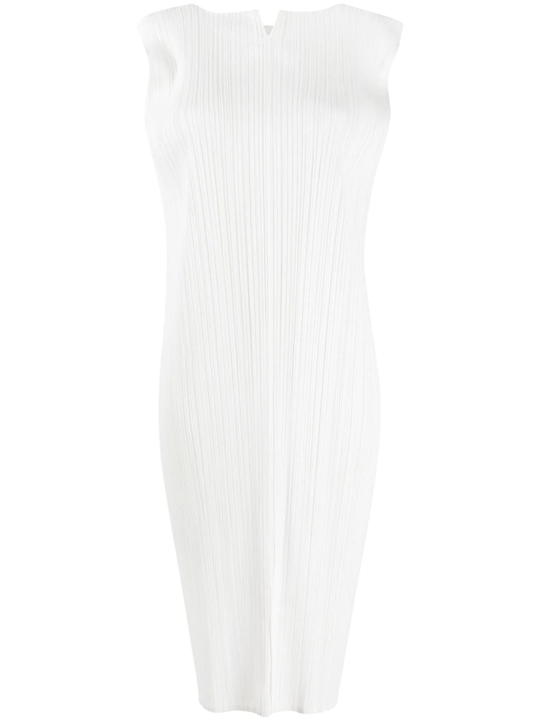 Pleats Please Issey Miyake Plissé Shift Dress In White