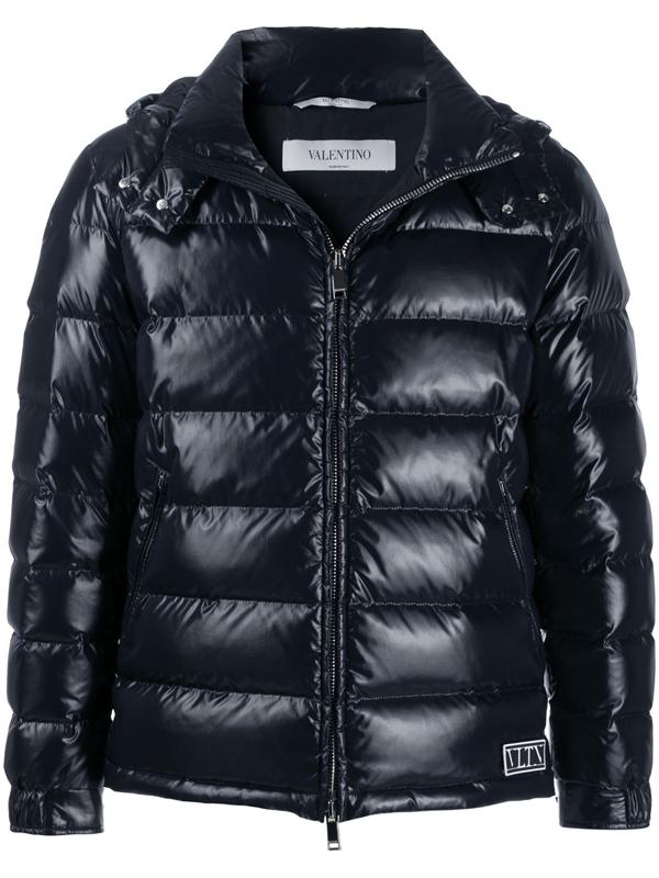 Valentino Down Jacket In Black
