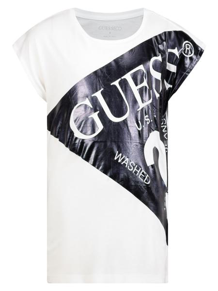 Guess Kids T-shirt For Girls In White
