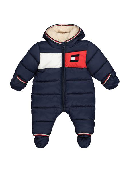 Tommy Hilfiger Kids Snowsuit Baby Flag For For Boys And For Girls In Blue