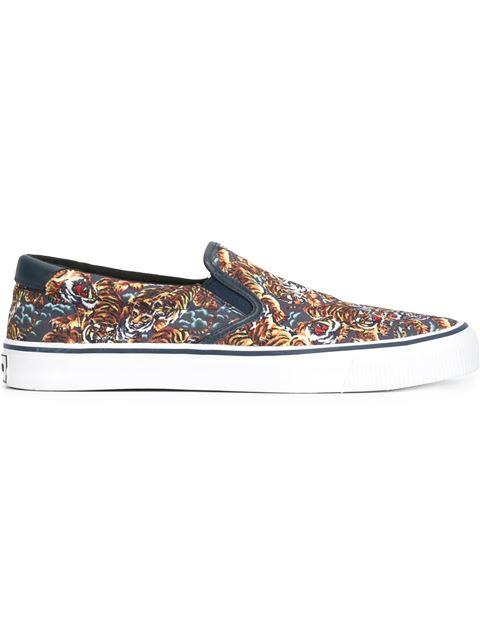 52e067a1 Blue & Orange Flying Tiger Slip-On Sneakers in Multicolour