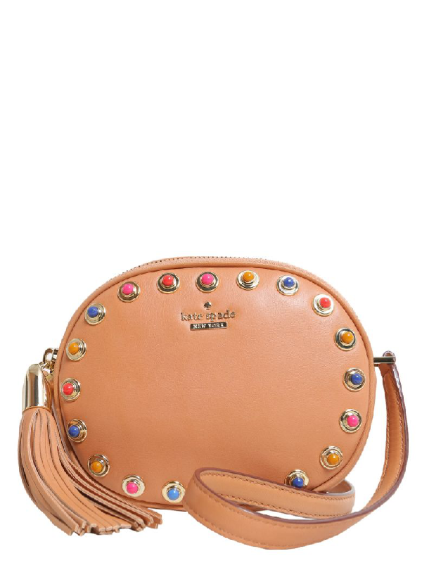 Kate Spade Devoe Street Tinley Leather Crossbody Bag In Masala & Warm Guava