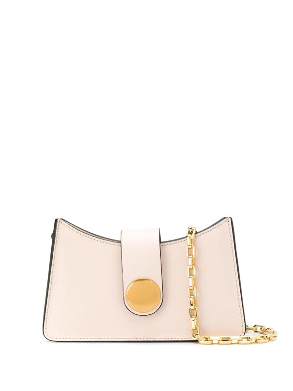 Elleme Baguette Mini Leather Shoulder Bag In Neutrals