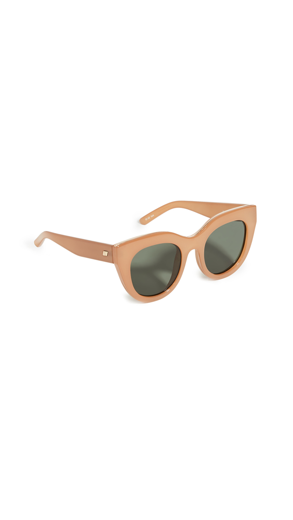 Le Specs Air Heart Oversized Cat-eye Sunglasses In Caramel Khaki Mono