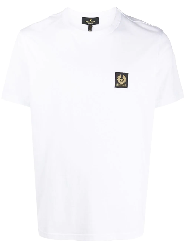 Belstaff Logo-patch Cotton-jersey T-shirt In White