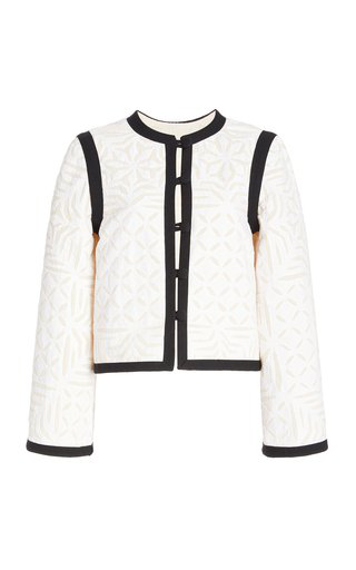 Alix Of Bohemia Capucine Quilted Cotton Jacket In White