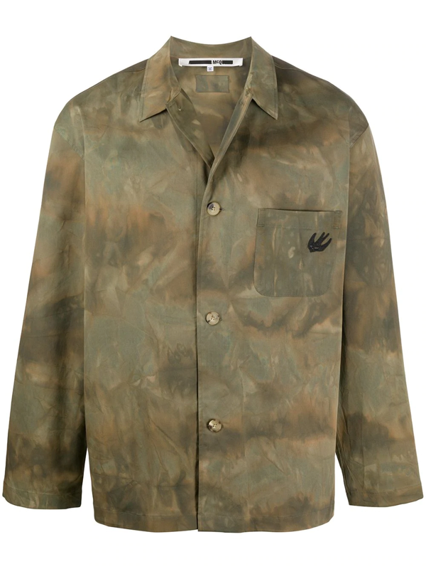 Mcq By Alexander Mcqueen Mcq Alexander Mcqueen Lewis Cotton Camouflage Regular Fit Shirt Jacket In Green