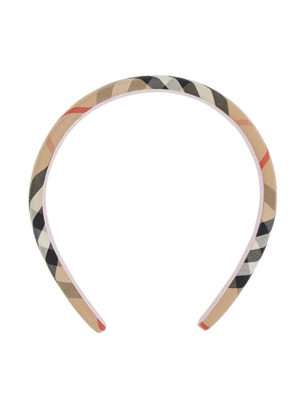 Burberry Kids' Vintage Check Canvas Headband In Neutrals
