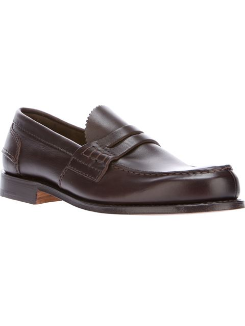 Church's Pembrey Leather Loafers In Brown
