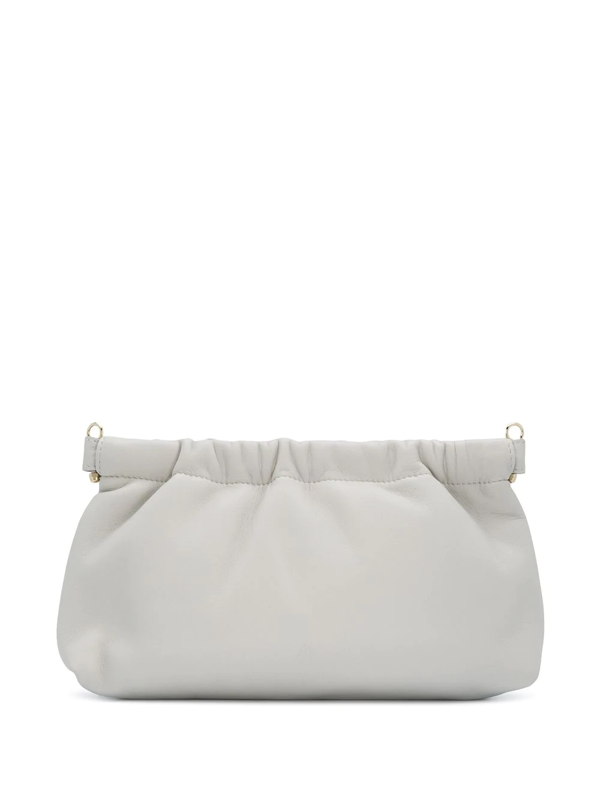 Attico Metal Clasp Clutch Bag In White