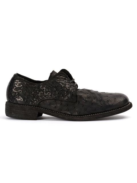 Guidi Textured Derby Shoes