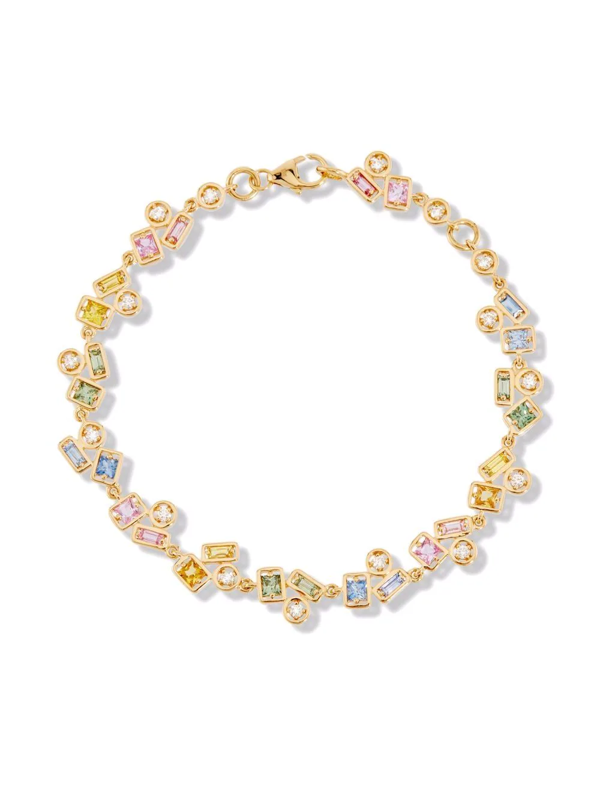 Suzanne Kalan 18kt Yellow Gold Pastel Sapphire Inlay Bracelet