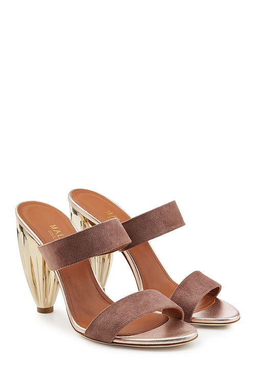 Malone Souliers Suede Sandals In Brown