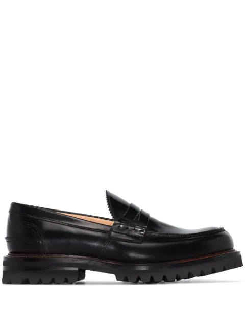 Church's Black Pembrey Leather Loafers