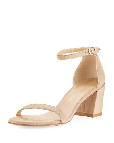 72bbba9671b Simple Suede Chunky-Heel City Sandal in Jeans