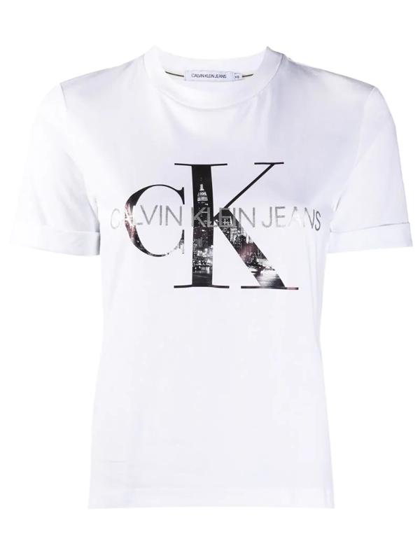 Calvin Klein Jeans Est.1978 Calvin Klein Jeans Women's White Cotton T-shirt
