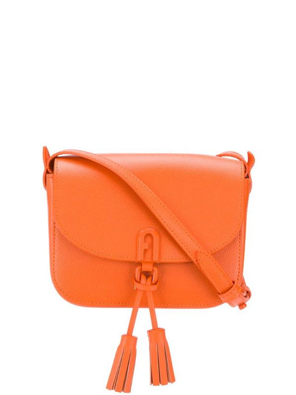 Furla 1927 Tassel-embellished Crossbody Bag In Orange