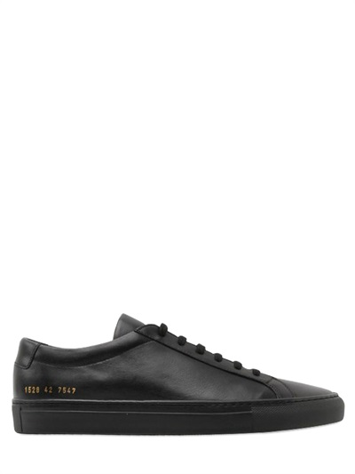 Common Projects Leather Low Top Sneakers In Black